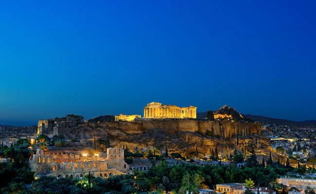 Image of night in Athens. Tours by PrivateToursAthens